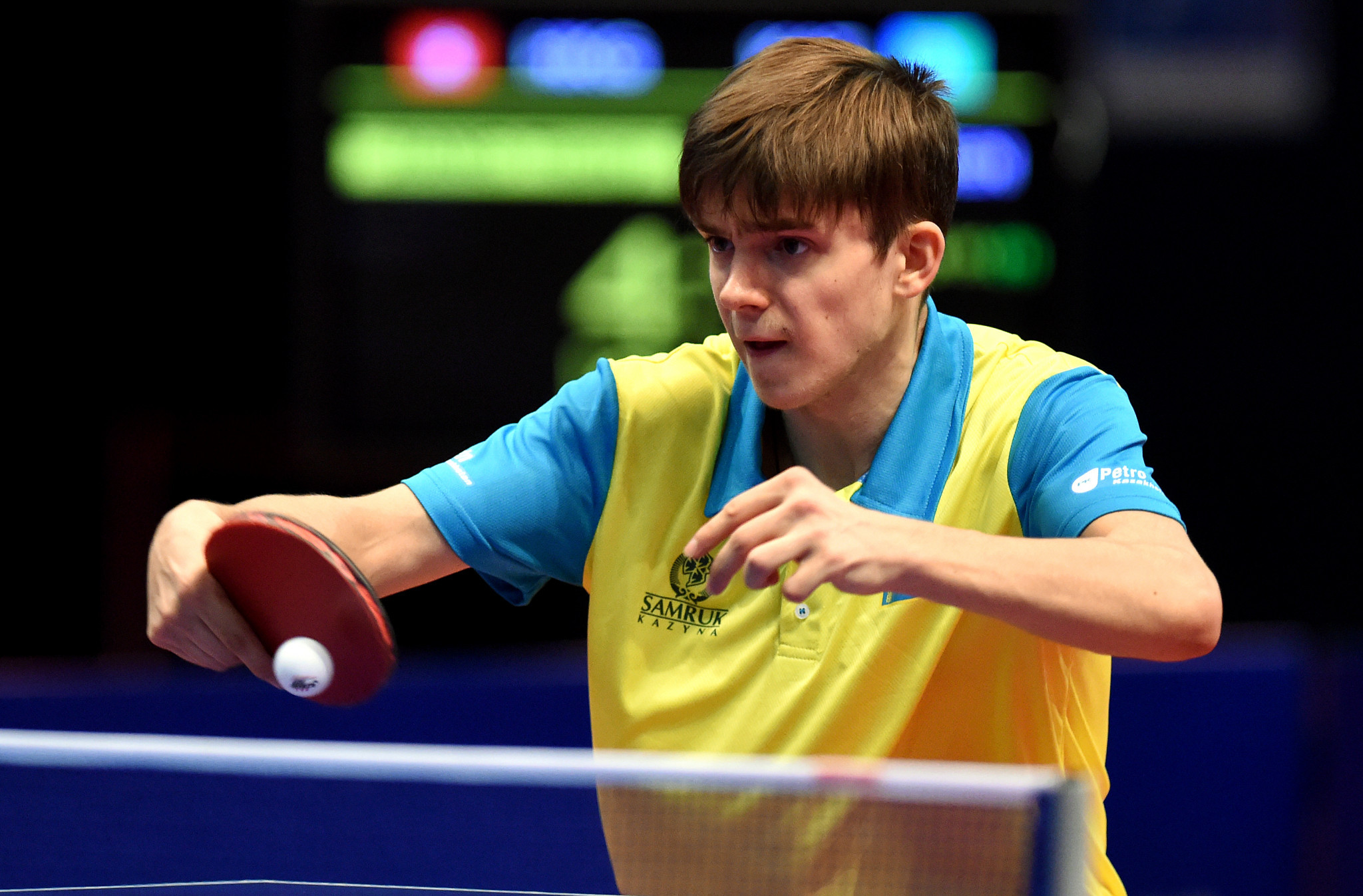 Central Asia top seed Kirill Gerassimenko of Kazakhstan won both his opening men's singles matches at the Asian Olympic Qualifying Tournament that started in Doha today ©Getty Images
