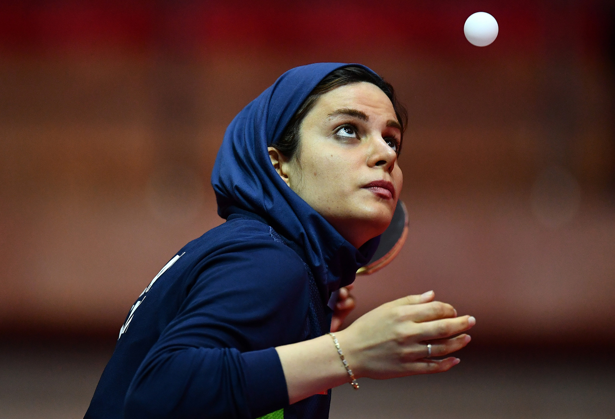 Iran's third seed in the women's singles, Neda Shahsavari, beat the second seed on the opening day of the Asian Olympic Qualifying Event in Doha ©Getty Images