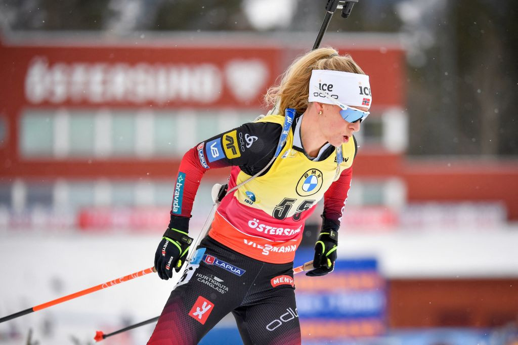 Tiril Eckhoff claimed her third straight victory by winning the women's sprint ©Getty Images