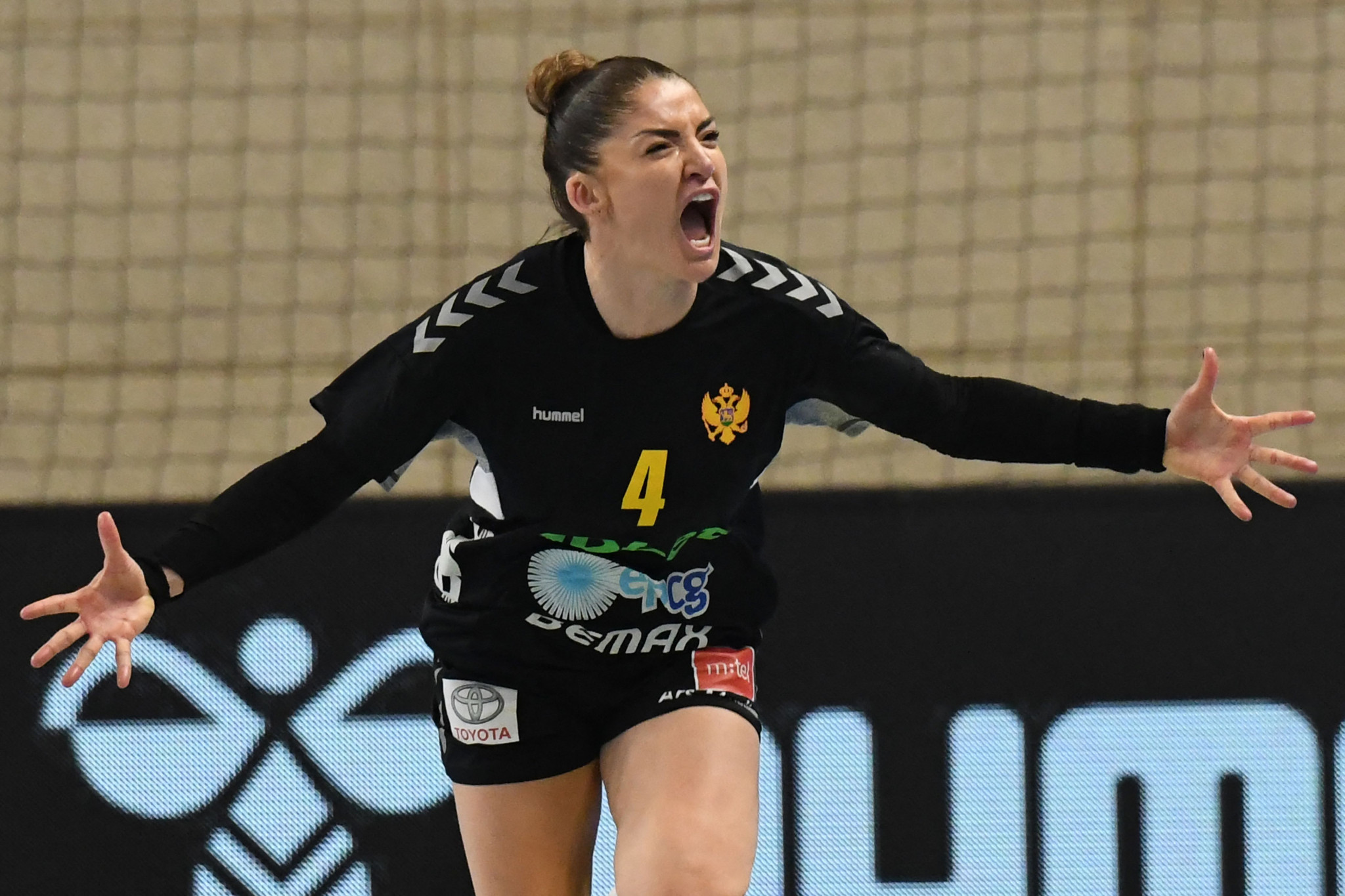 Montenegro celebrate their win over Norway on day one of their Tokyo 2020 women's handball qualification tournament - a victory that is a reversal of the outcome of the London 2012 gold medal match ©Getty Images