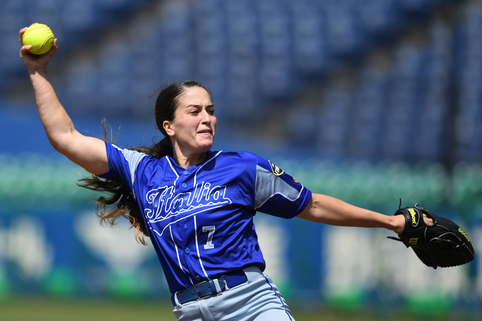 Pitcher Ilaria Cacciamani is in the 22-player squad ©Getty Images