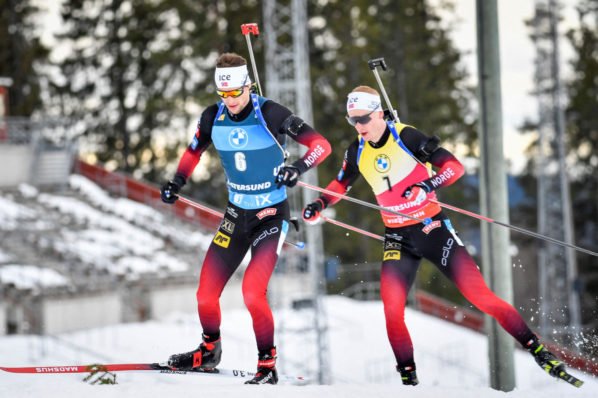 Overall men's Biathlon World Cup title to go down to wire after Lægreid's pursuit win