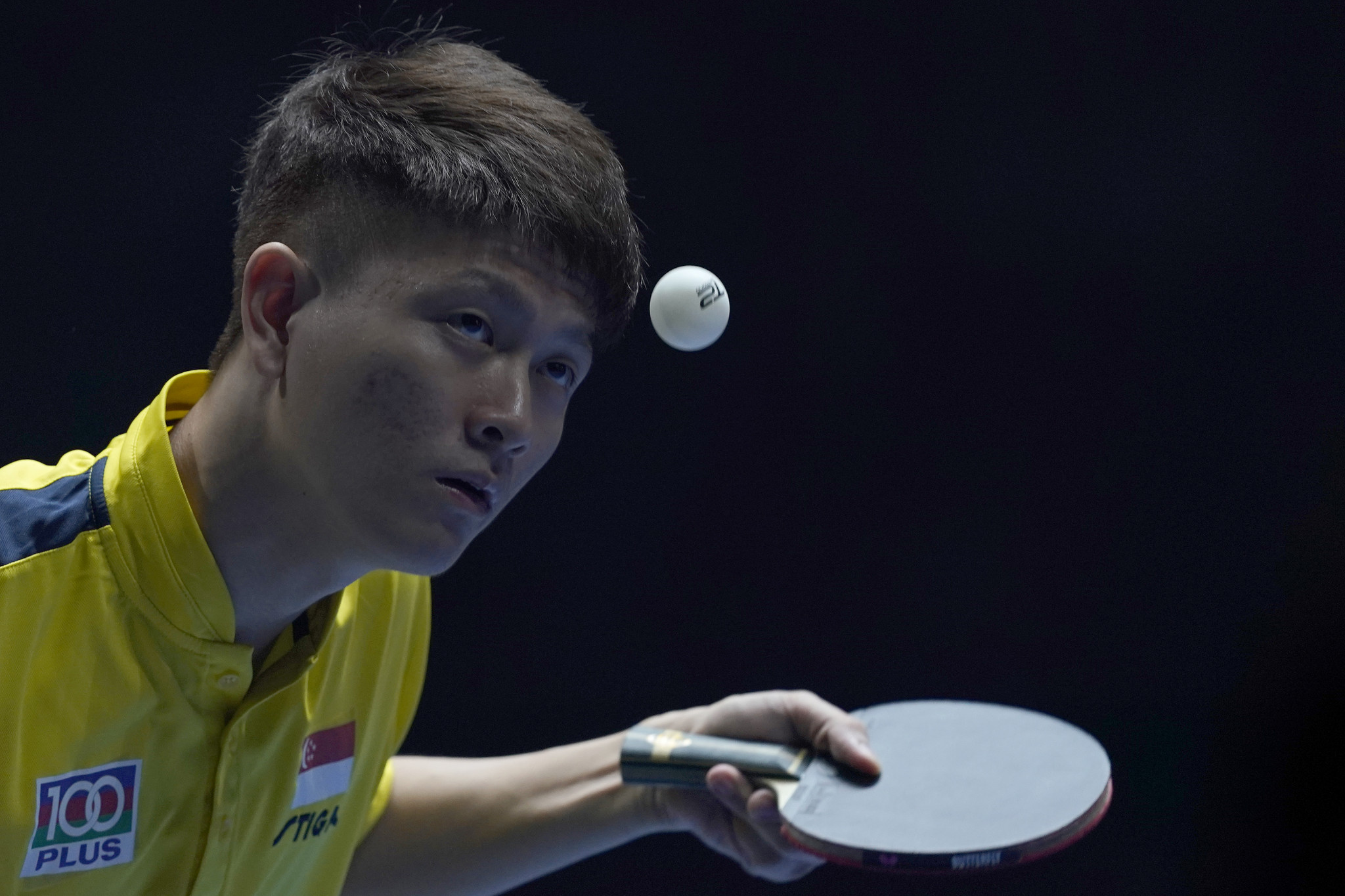 Clarence Chew became the first Singapore-born table tennis player to qualifier for the Olympic men's singles event ©Getty Images
