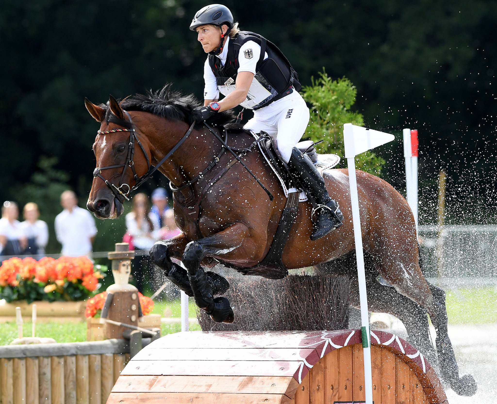 Germany's Ingrid Klimke captured gold medals in the individual and team events at the FEI Evening European Championships in 2019 ©Getty Images