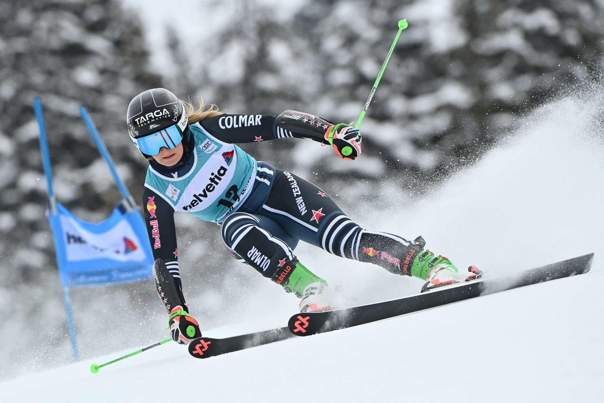 Alice Robinson produced a blistering second run to clinch victory in Lenzerheide ©Getty Images
