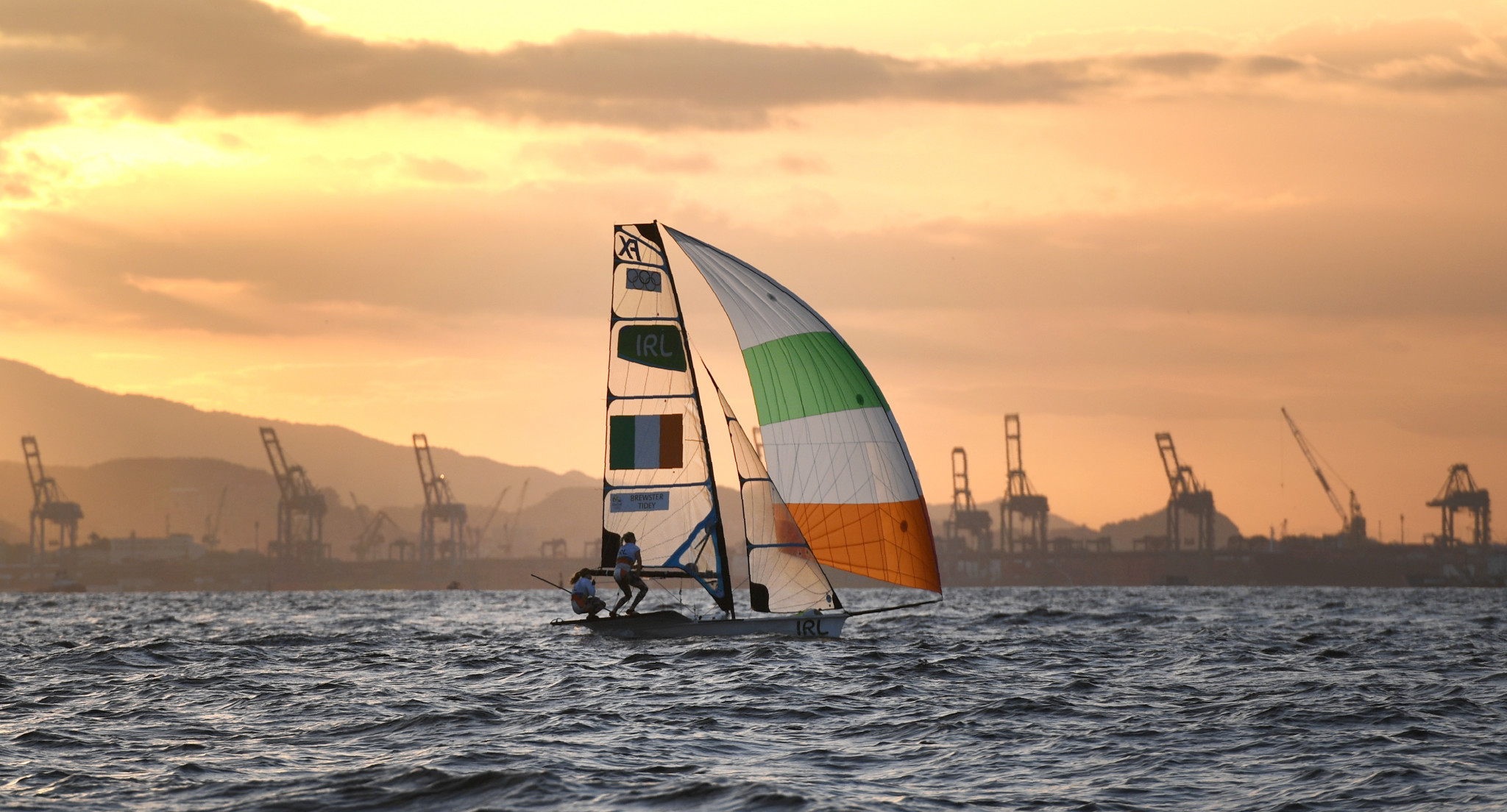 Ireland lead the 49er class standings after day one in Lanzarote ©Getty Images