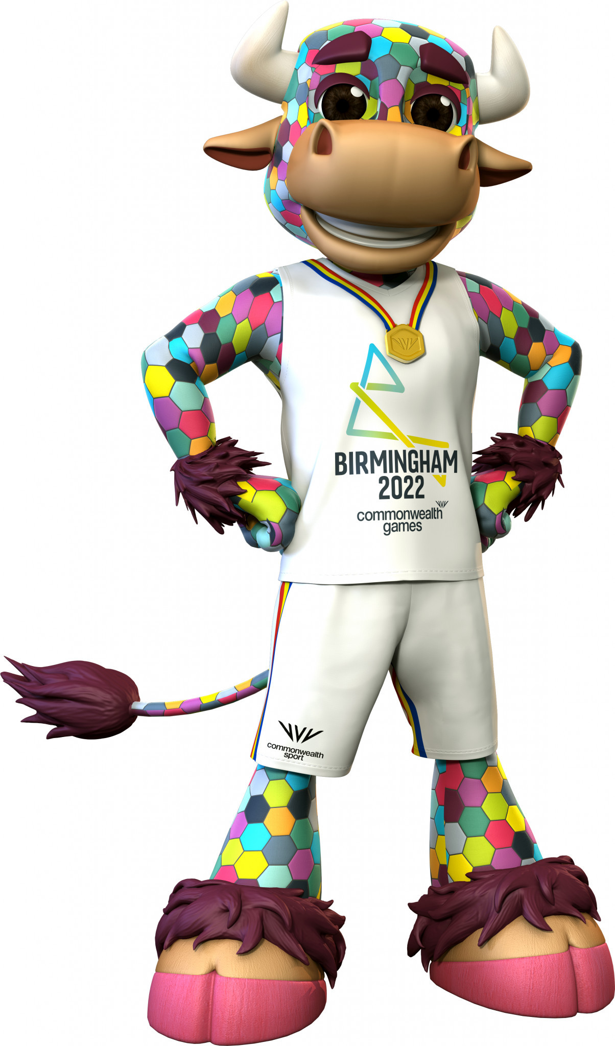 Perry is named after Perry Barr, the region in Birmingham where Alexander Stadium is located, and who draws his inspiration from the famous Bull Ring in the English city ©Birmingham 2022