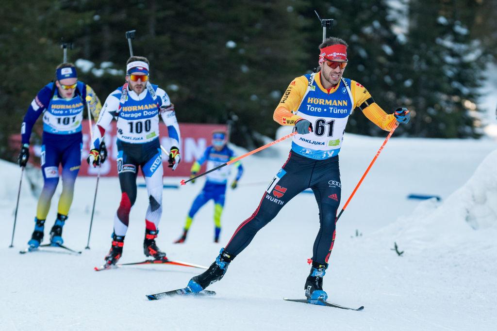 Arend Beaver, der letzten Monat beim 20-km-Einzelrennen der Männer auf dem Weg zum globalen Biathlonsilber abgebildet war, gewann die olympische Goldmedaille in PyeongChang 2018 © Getty Images