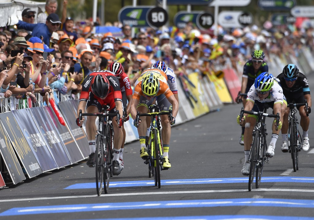 Three-time winner Gerrans takes race lead at Tour Down Under