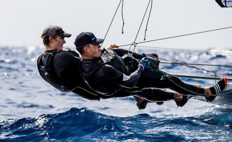 Ireland lead race for Tokyo 2020 qualification place in 49er class at Lanzarote International Regatta