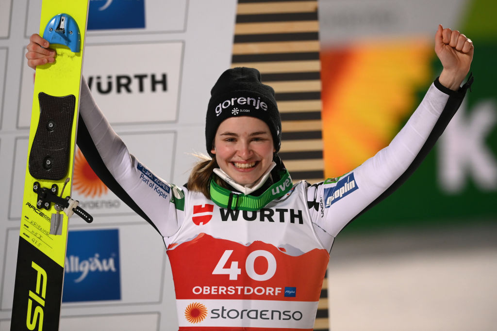 Križnar takes narrow overall lead into concluding Women's Ski Jumping World Cup in Chaikovsky