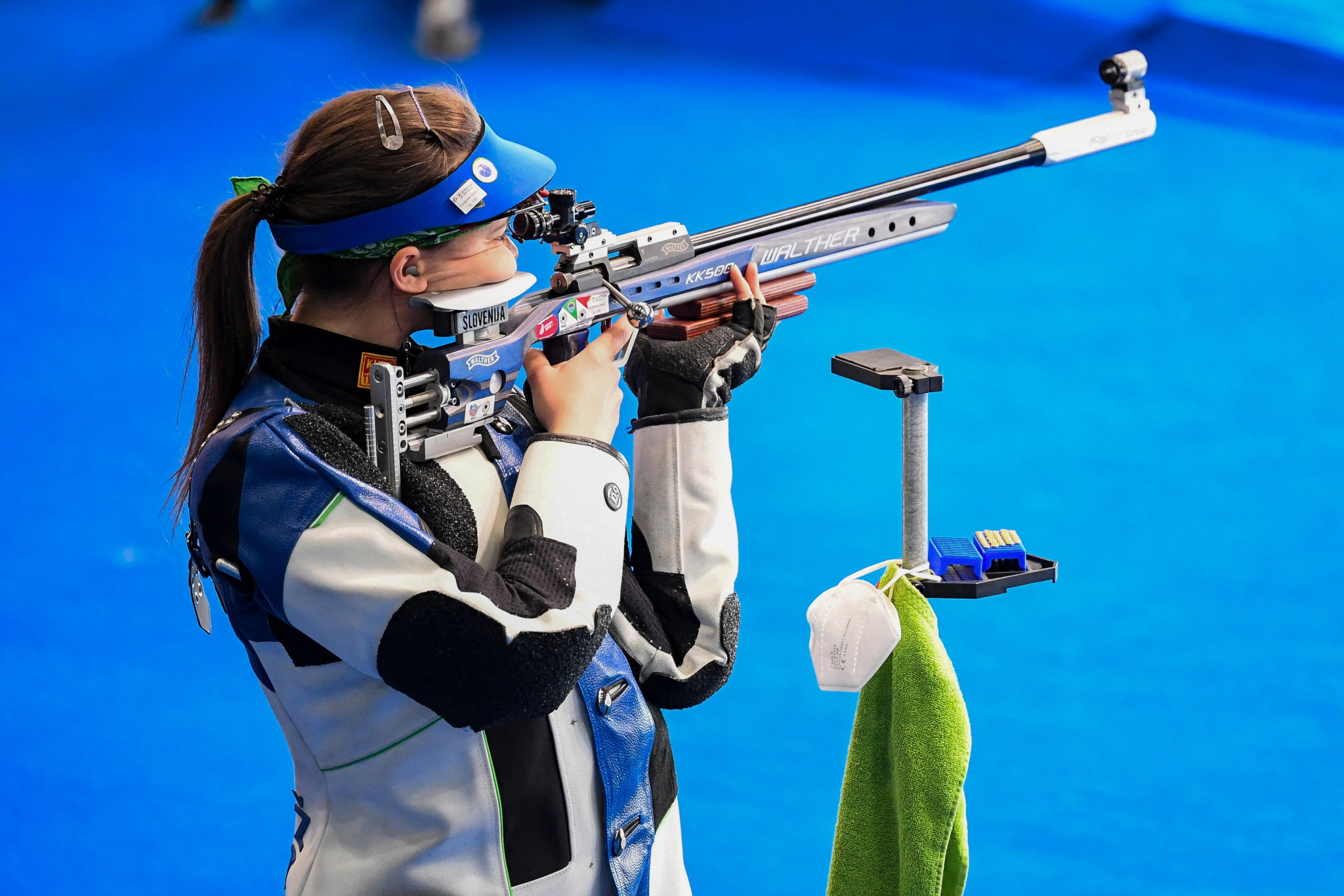 Slovenia's Ziva Dvorsak won the women's 50m rifle 3 positions gold today ©Getty Images