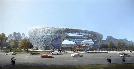 An image of what the completed Rock Climbing Center in Shaoxing, which will be used during the Hangzhou 2022 Asian Games, will look like when completed in October this year ©Shaoxing OC/Hangzhou 2022