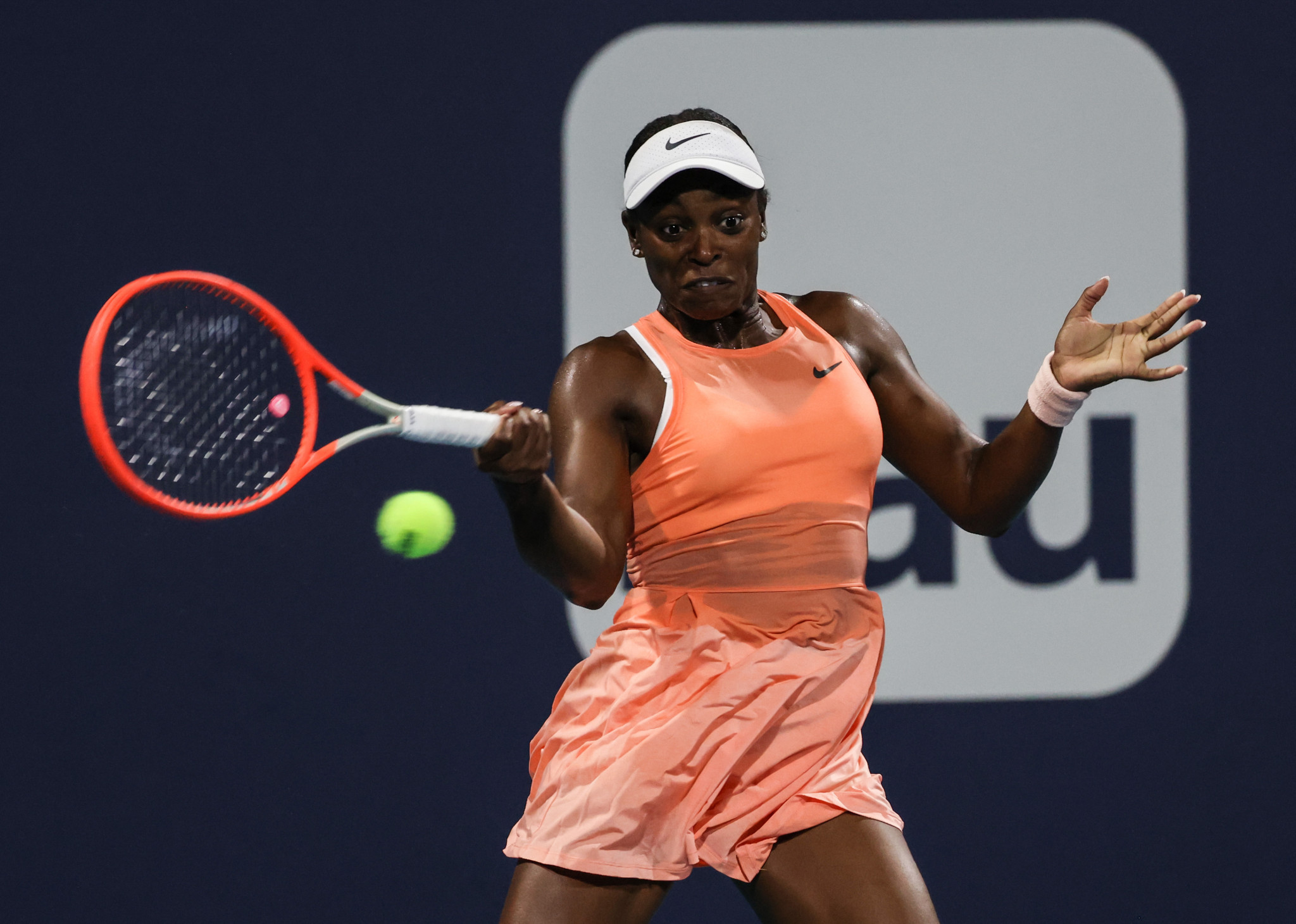Stephens battles back to seal first win of 2021 at Miami Open, angry Pospisil out