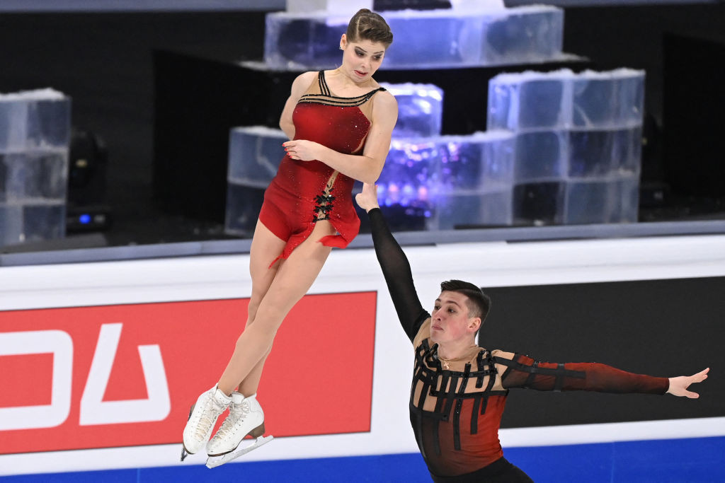Mishina and Galliamov claim surprise pairs title at World Figure Skating Championships