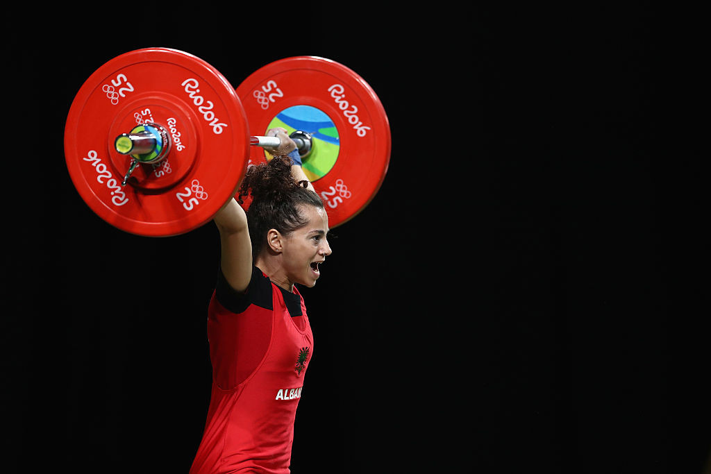 Evagjelia Veli, eighth at Rio 2016, is among the Albanian weightlifters to have tested positive for a banned substance ©Getty Images