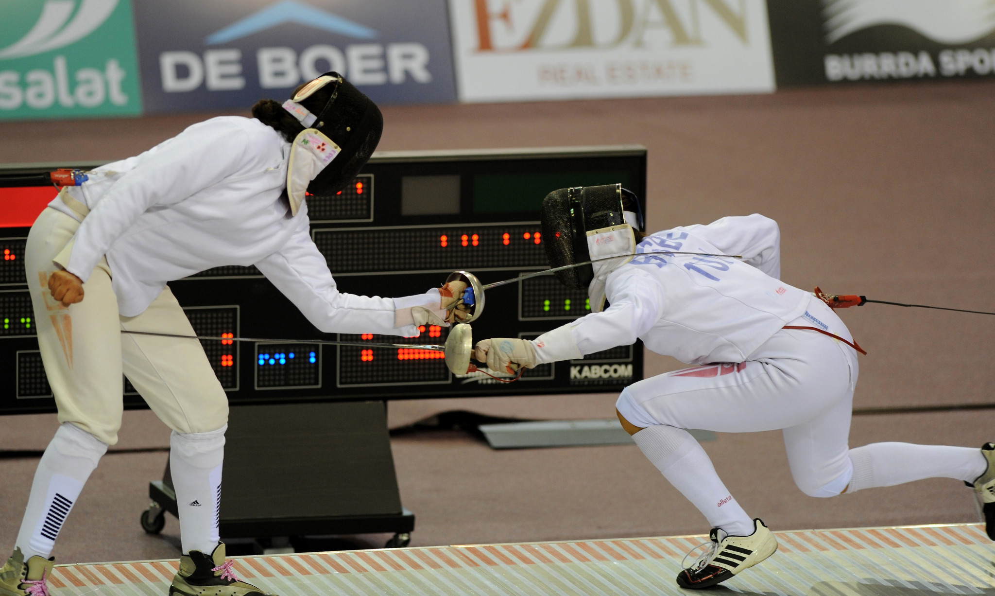 Opening round of women's foil completed at Qatar Fencing Grand Prix