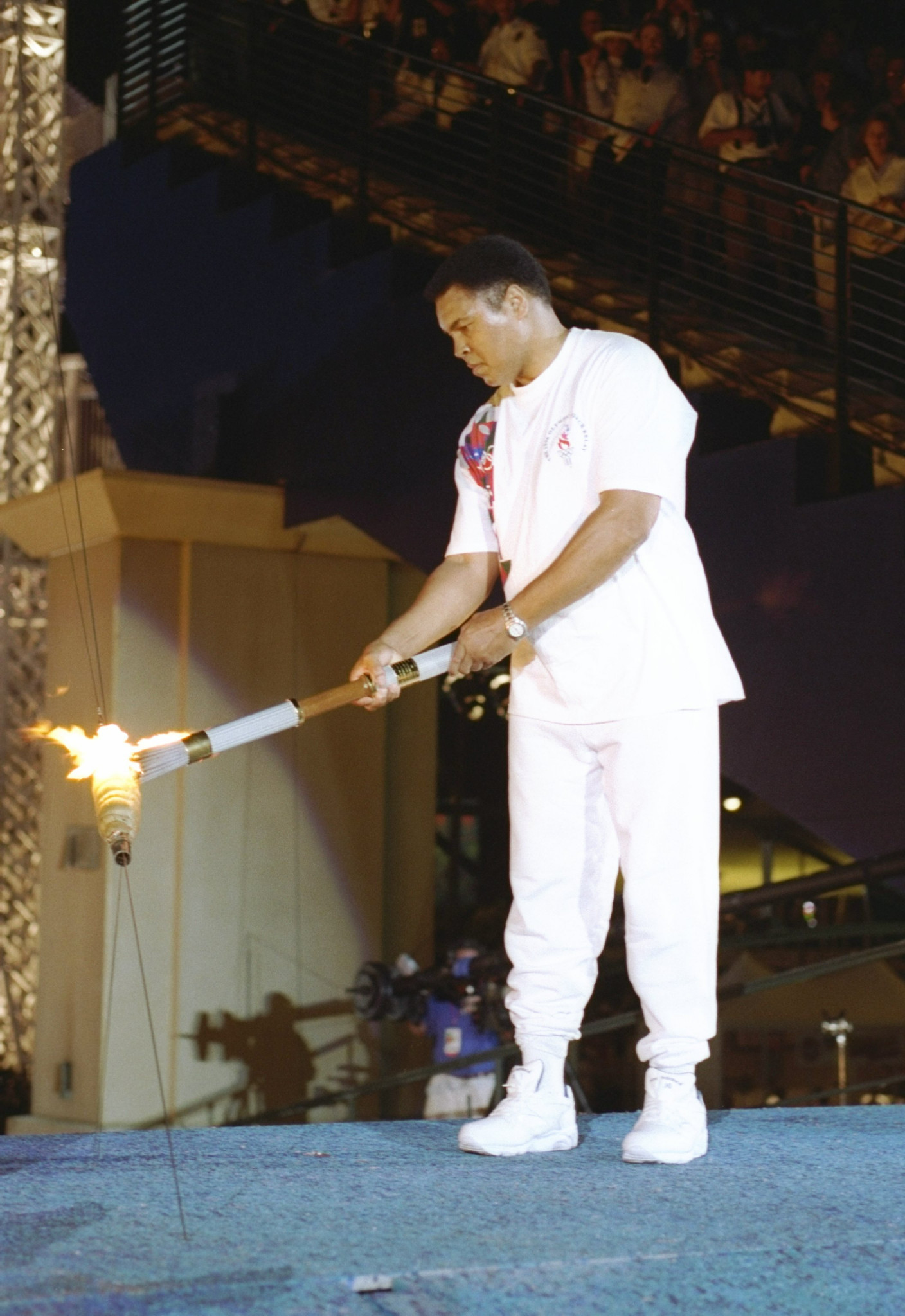 Muhammad Ali lit the cauldron at Atlanta 1996 and participated in the Los Angeles 1984 Relay  ©Getty Images