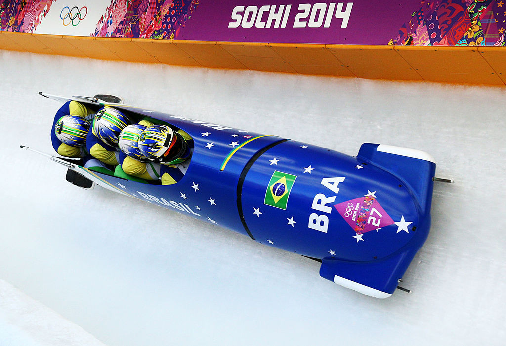 Audrey Besoni compete pelo Brasil no evento de Bobsleigh para quatro pessoas em Sochi 2014 e Pyongyang 2018 © Getty Images