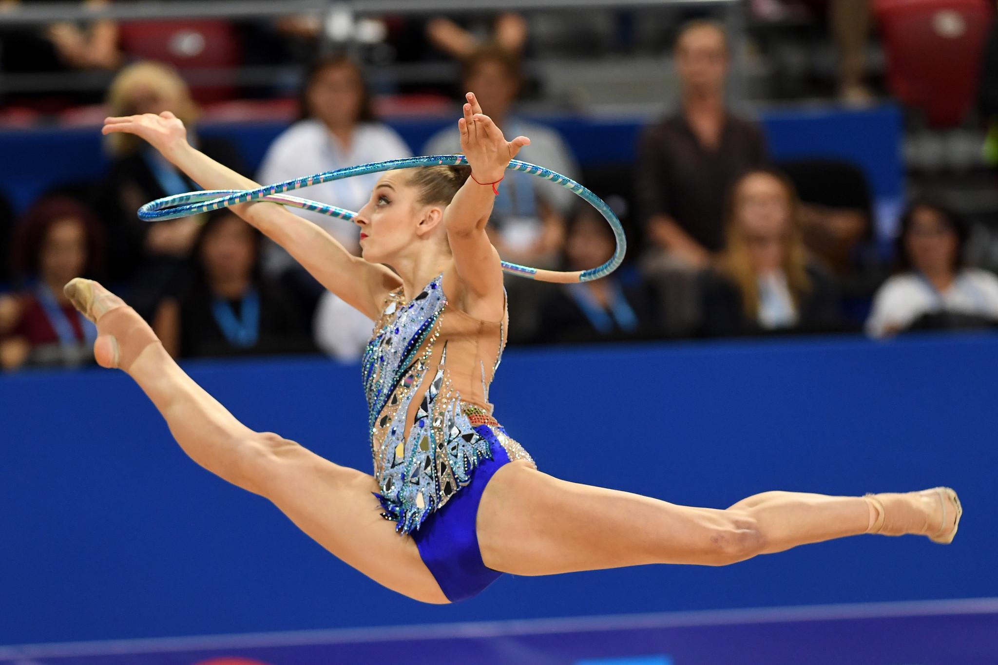 Kaleyn wins three individual titles on final day of FIG Rhythmic Gymnastics World Cup in Sofia