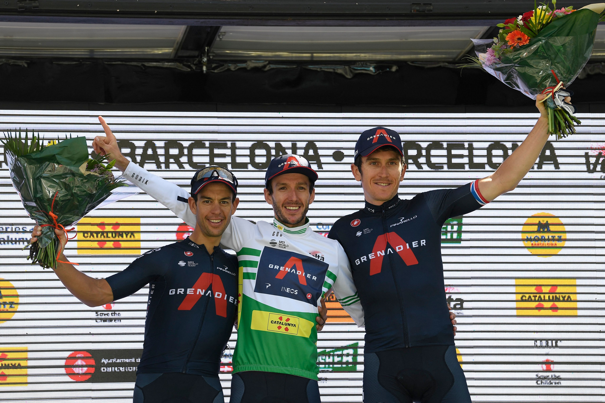 Yates leads Ineos Grenadiers podium sweep at Volta a Catalunya as De Gendt claims final stage