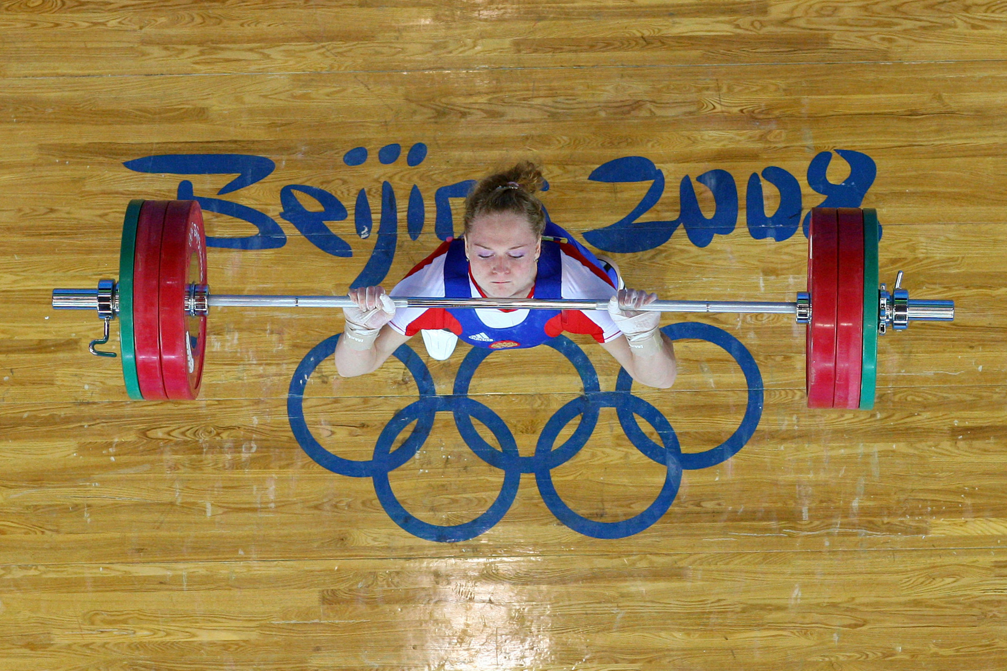 Oksana Slivenko is Russia's last Olympic weightlifting champion having won a gold medal at Beijing 2008, but was given a two-year doping ban in 2018 ©Getty Images