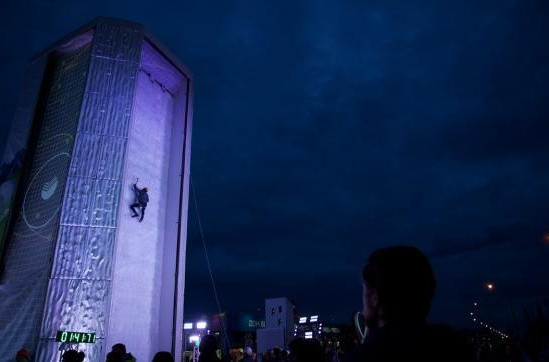 Ice climbing will be showcased at Lillehammer 2016, as it was in the Olympic Park at Sochi 2014 (pictured) ©UIAA