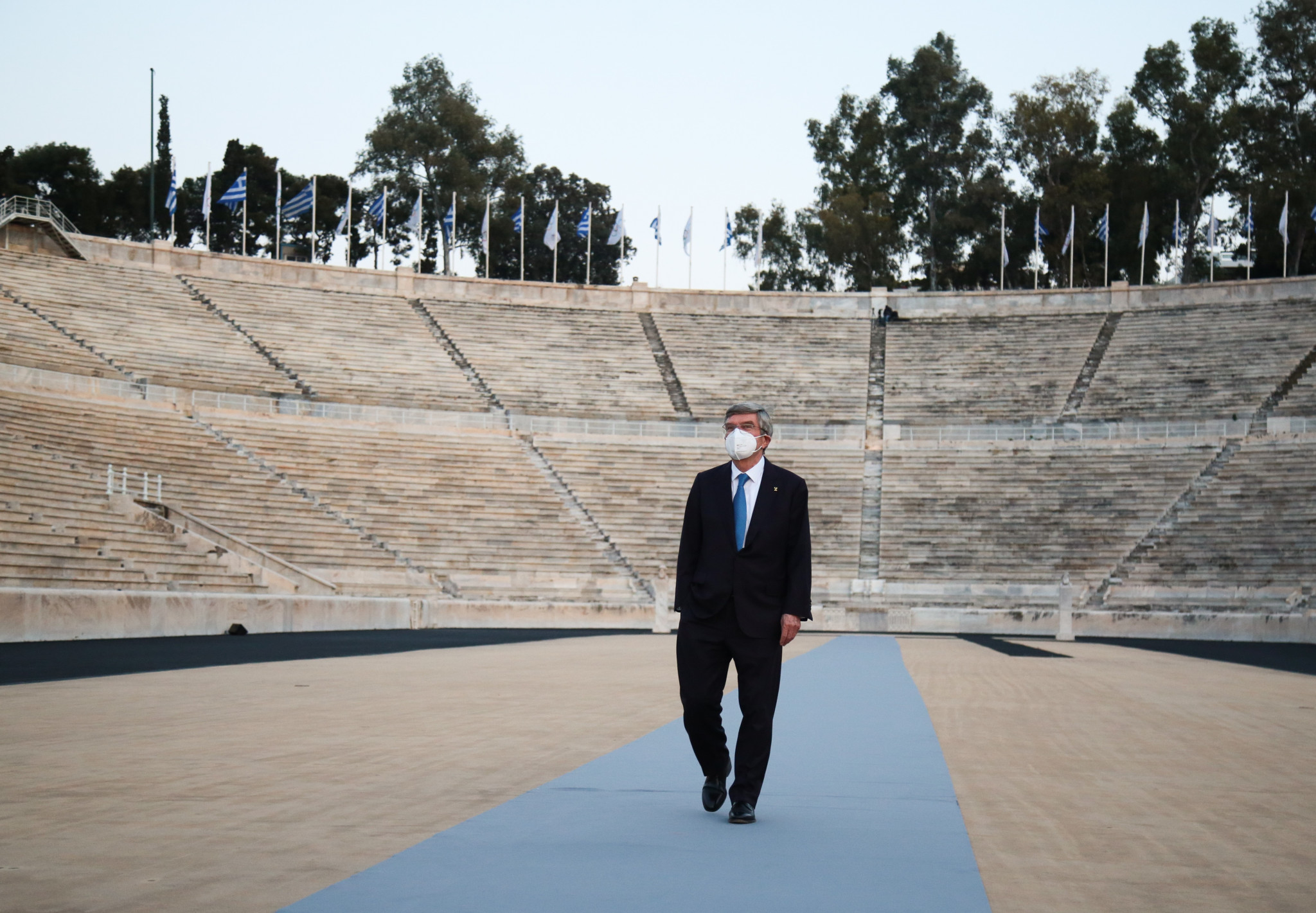 The visit to Athens is Bach's first foreign trip since his re-election as IOC President ©HOC