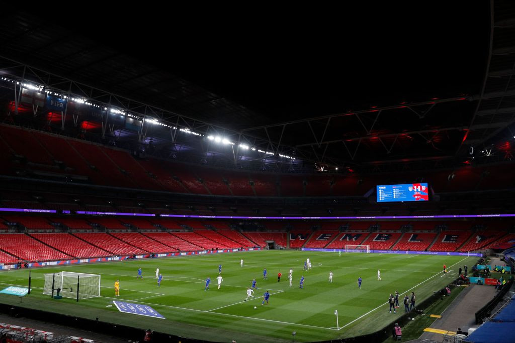 The FA wants half of Wembley Stadium filled for the semi-finals and finals of Euro 2020 ©Getty Images