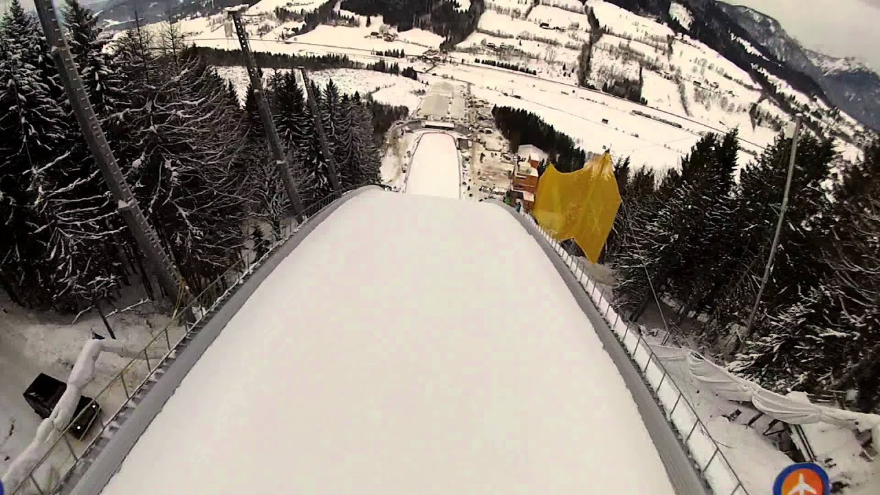 Kulm in Austria is set to be awarded the 2024 FIS Ski Flying Championships after the original host Czech Republic withdrew ©YouTube