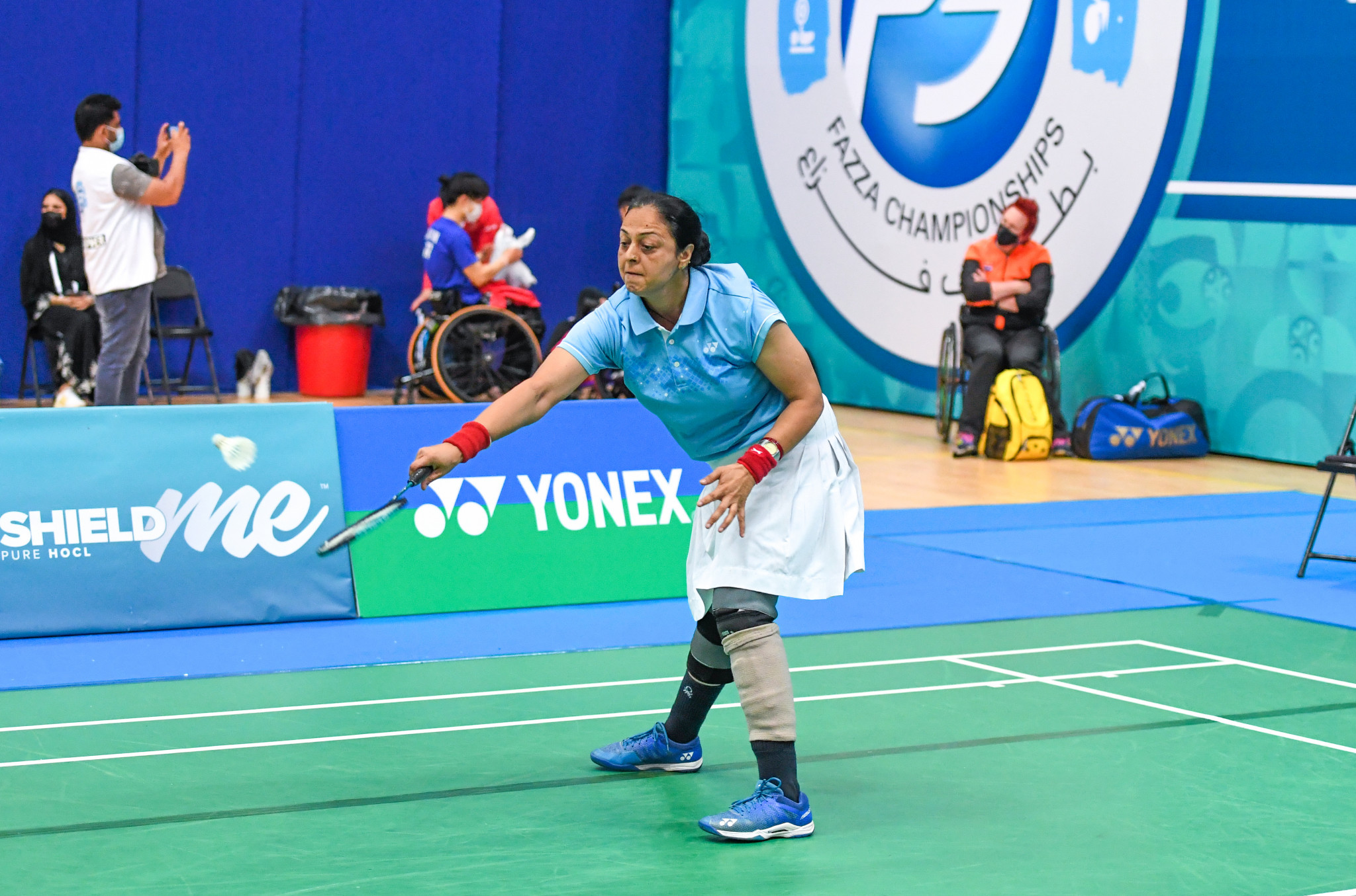 Top seeds progress on second day of Dubai Para Badminton International