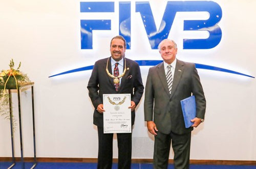 Association of National Olympic Committees President receives highest volleyball accolade