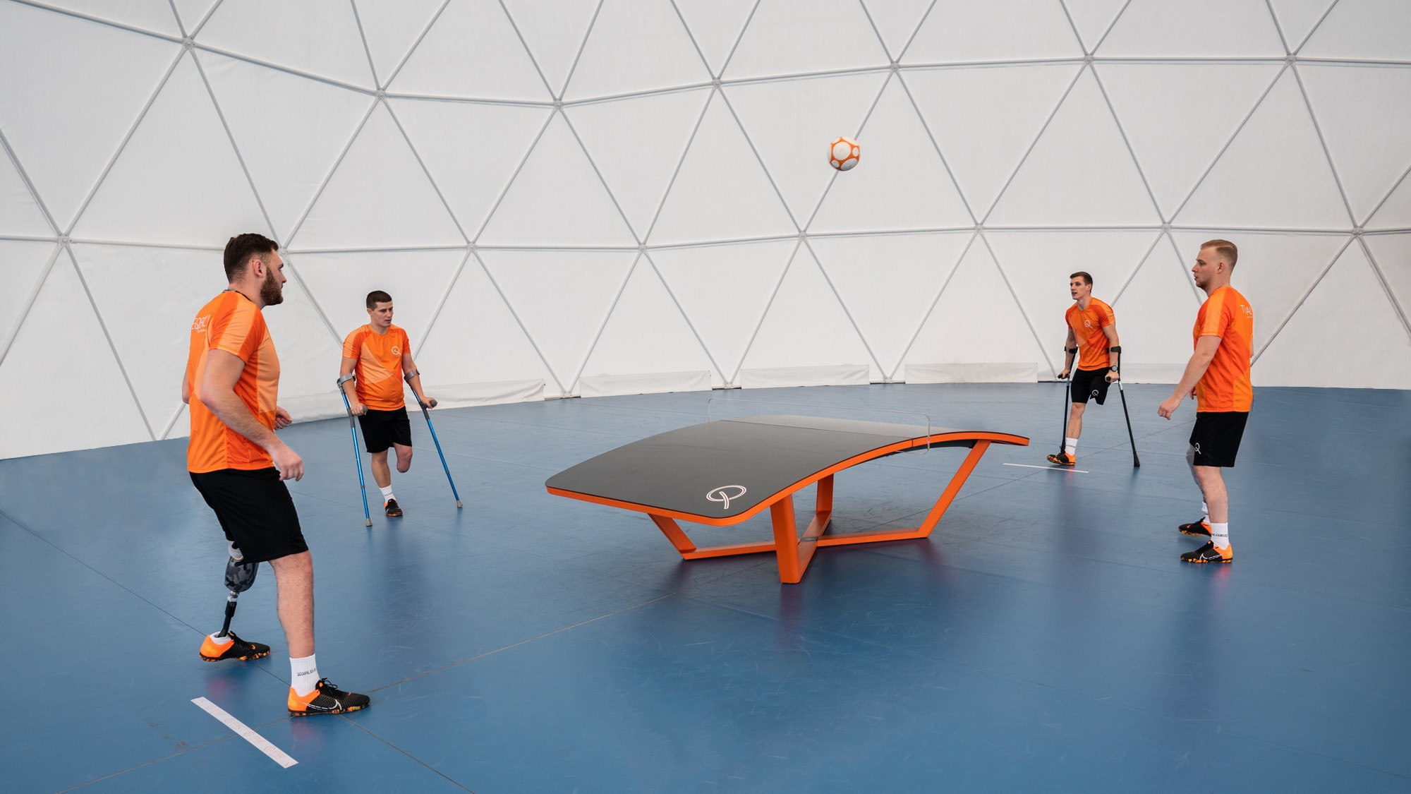 The International Teqball Federation has created two classes for Para teqball ©FITEQ