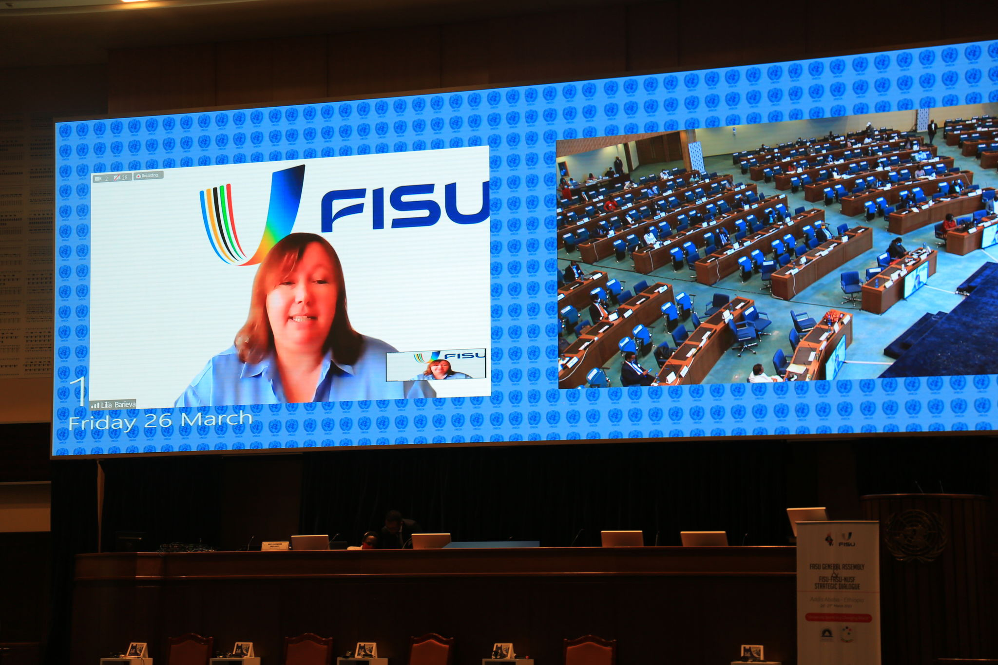 Lilia Barieva spoke positively of the work FISU had carried out during the COVID-19 pandemic ©FISU
