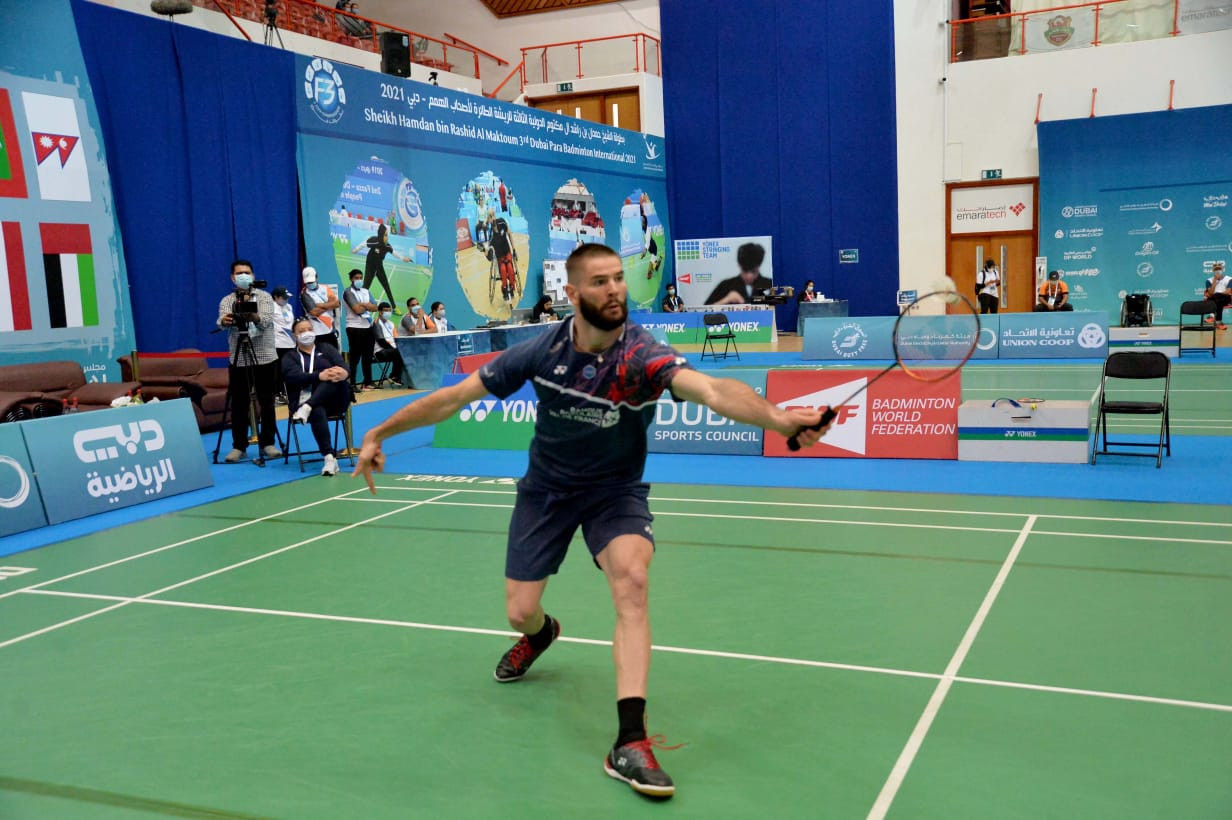 Toupe battles through as all singles top seeds progress at Dubai Para Badminton International