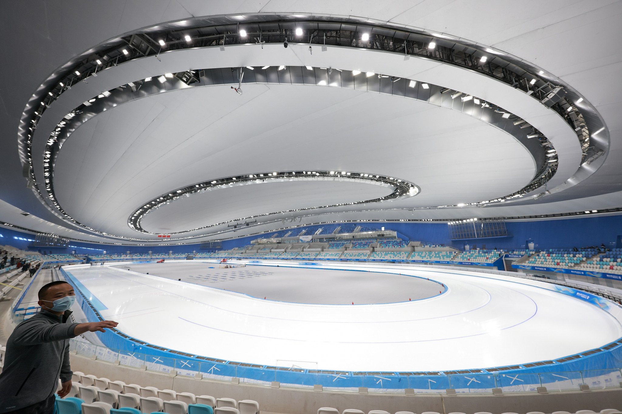 The National Speed Skating Oval will be among the venues tested ©Getty Images