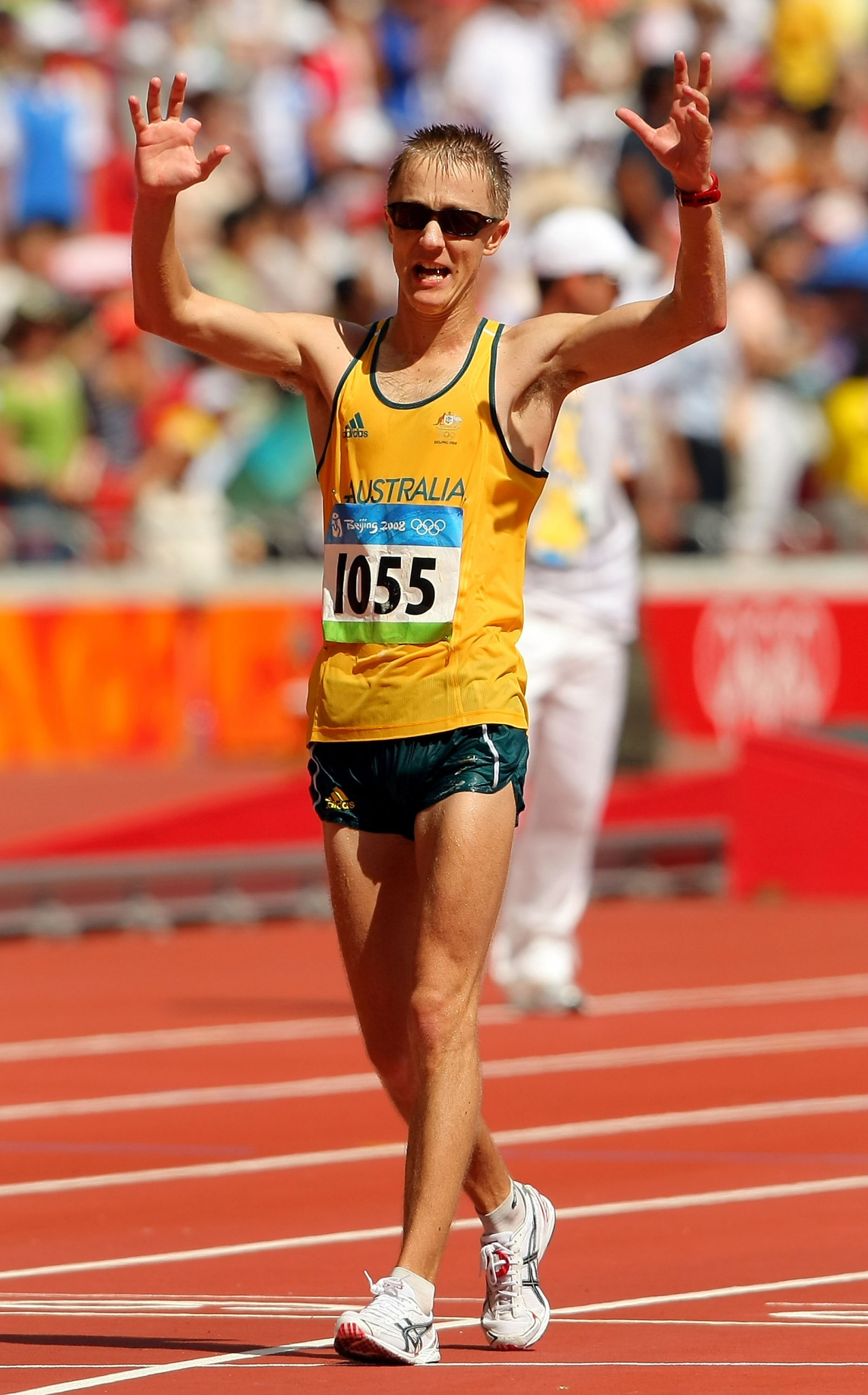 Jared Tallent won two Olympic medals at Beijing 2008, including a bronze in the 20km walk, making him the first Australian male to achieve the feat for 104 years ©Getty Images