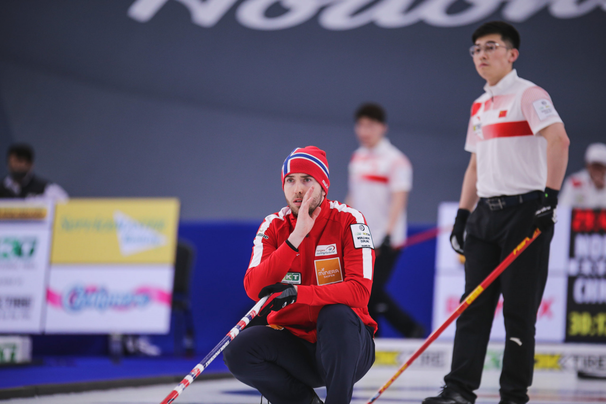 Unbeaten Norway go top on day two of World Men's Curling Championship