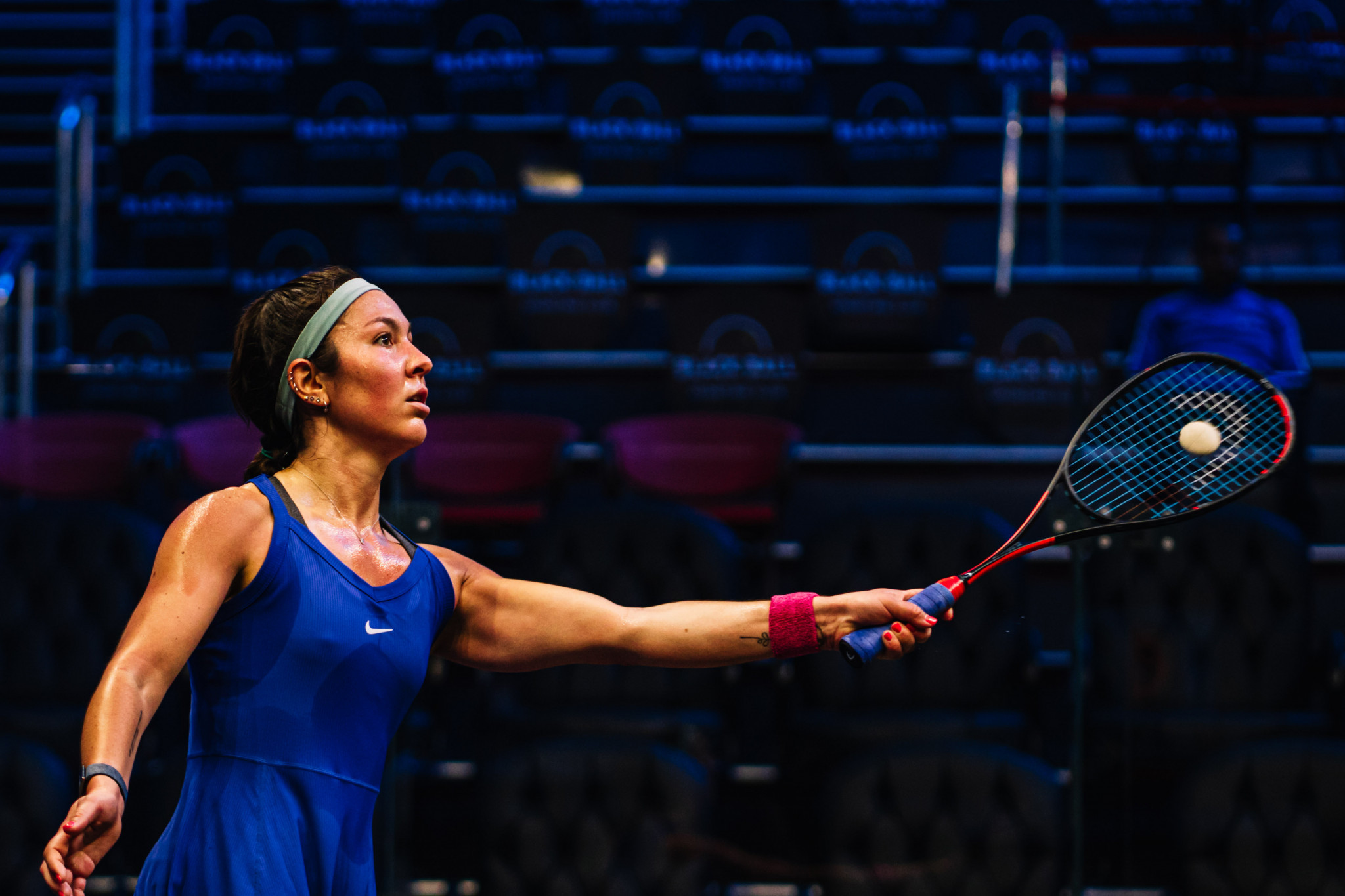 Amanda Sobhy has become the first player born in the United States to reach the top five of the Professional Squash Association's world rankings ©PSA