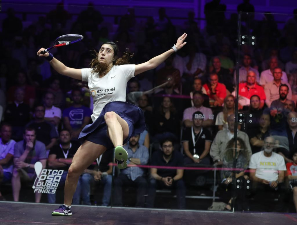 Egypt's four-times world champion Nour El Sherbini remains top of the Professional Squash Association world rankings for April ©Getty Images