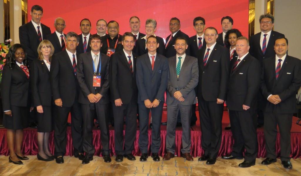 Bilbao's successful bid delegation with BWF Council members ©BWF