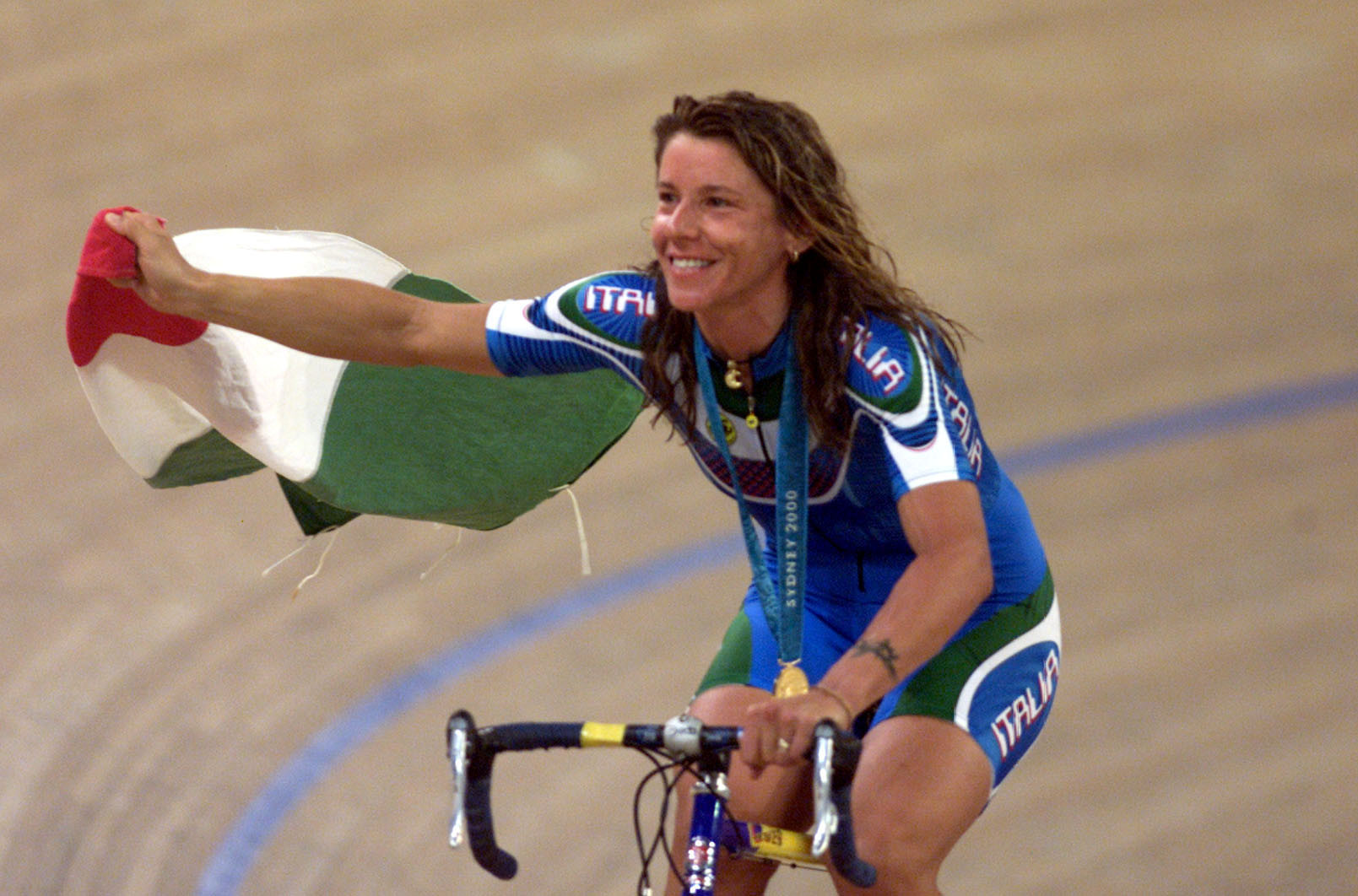 Two-time Olympic cycling gold medallist Antonella Bellutti is standing in the CONI Presidential election ©Getty Images