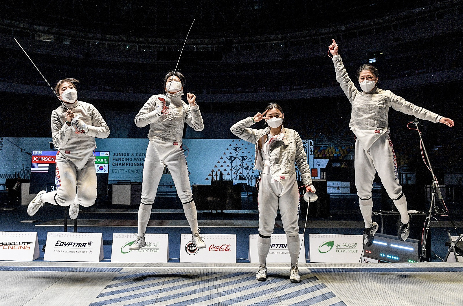 South Korea and Egypt win team sabre golds at Junior World Fencing Championships