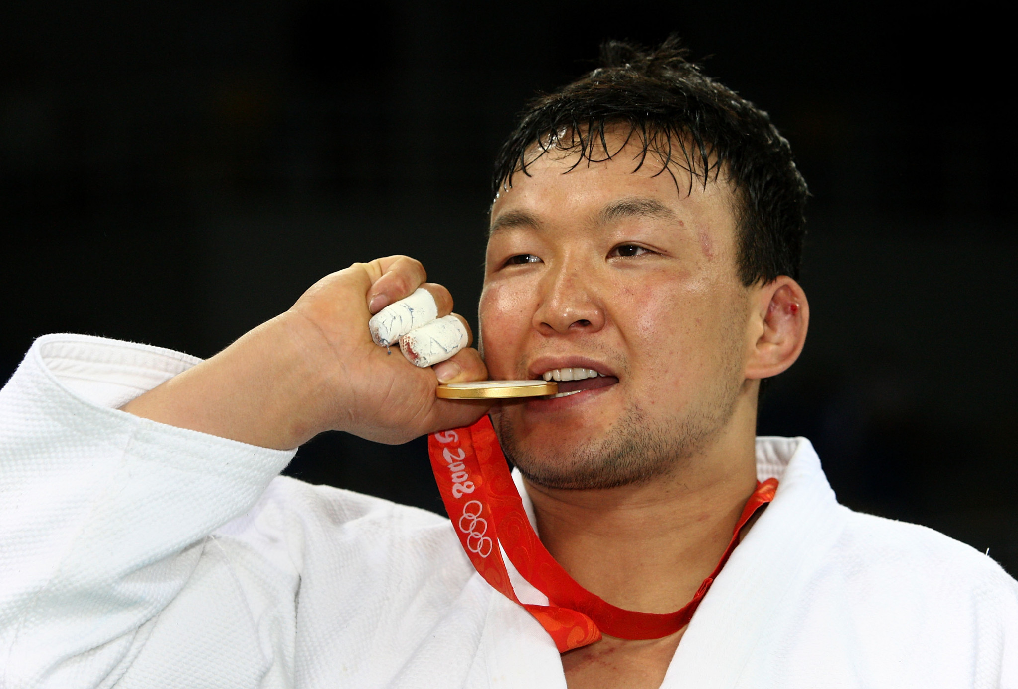Naidan Tuvshinbayar, the current President of the Mongolia National Olympic Committee, became the country's first ever Olympic gold medallist at Beijing 2008 ©Getty Images