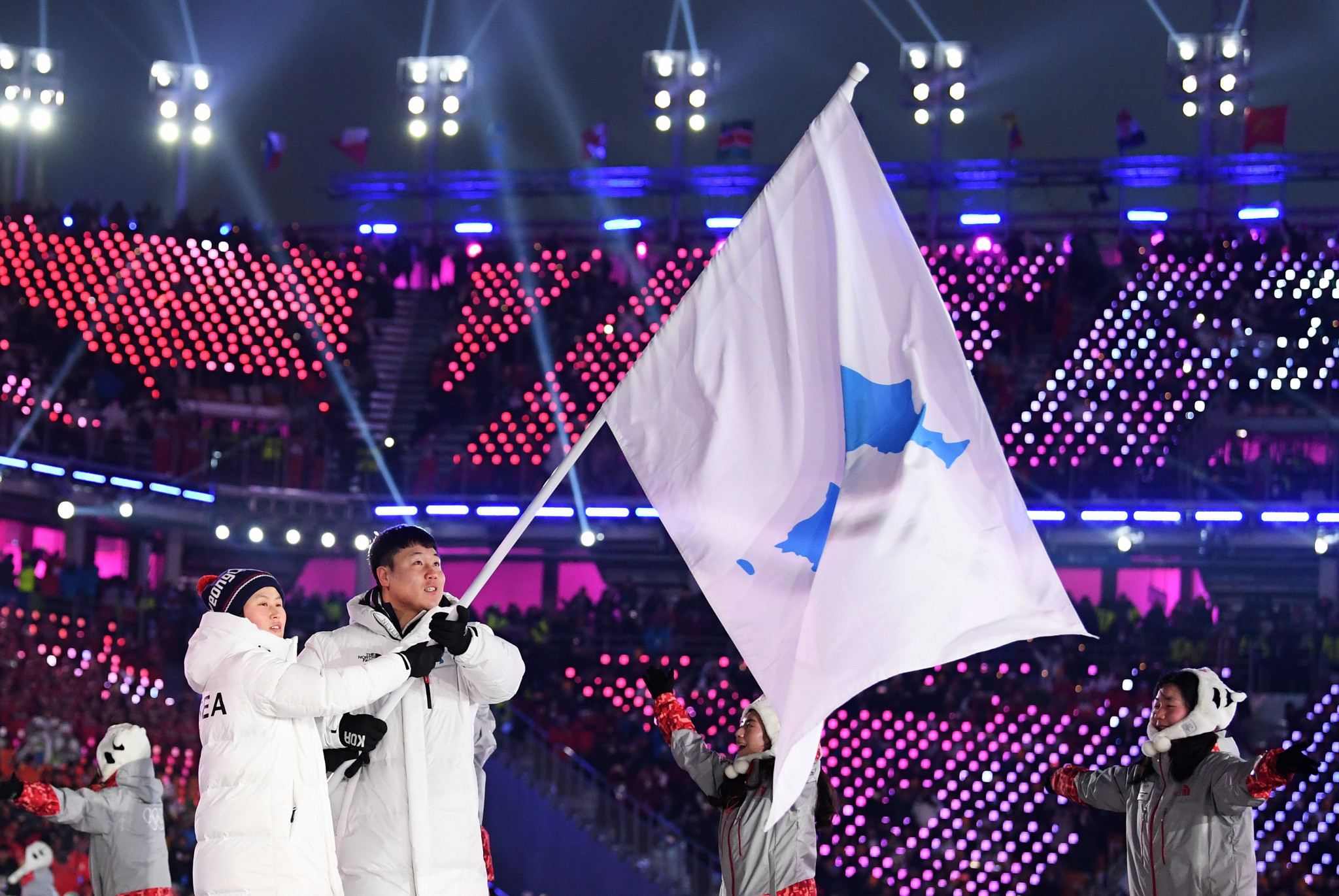 Joint Korean relations took a big step forward at Pyeongchang 2018 ©Getty Images
