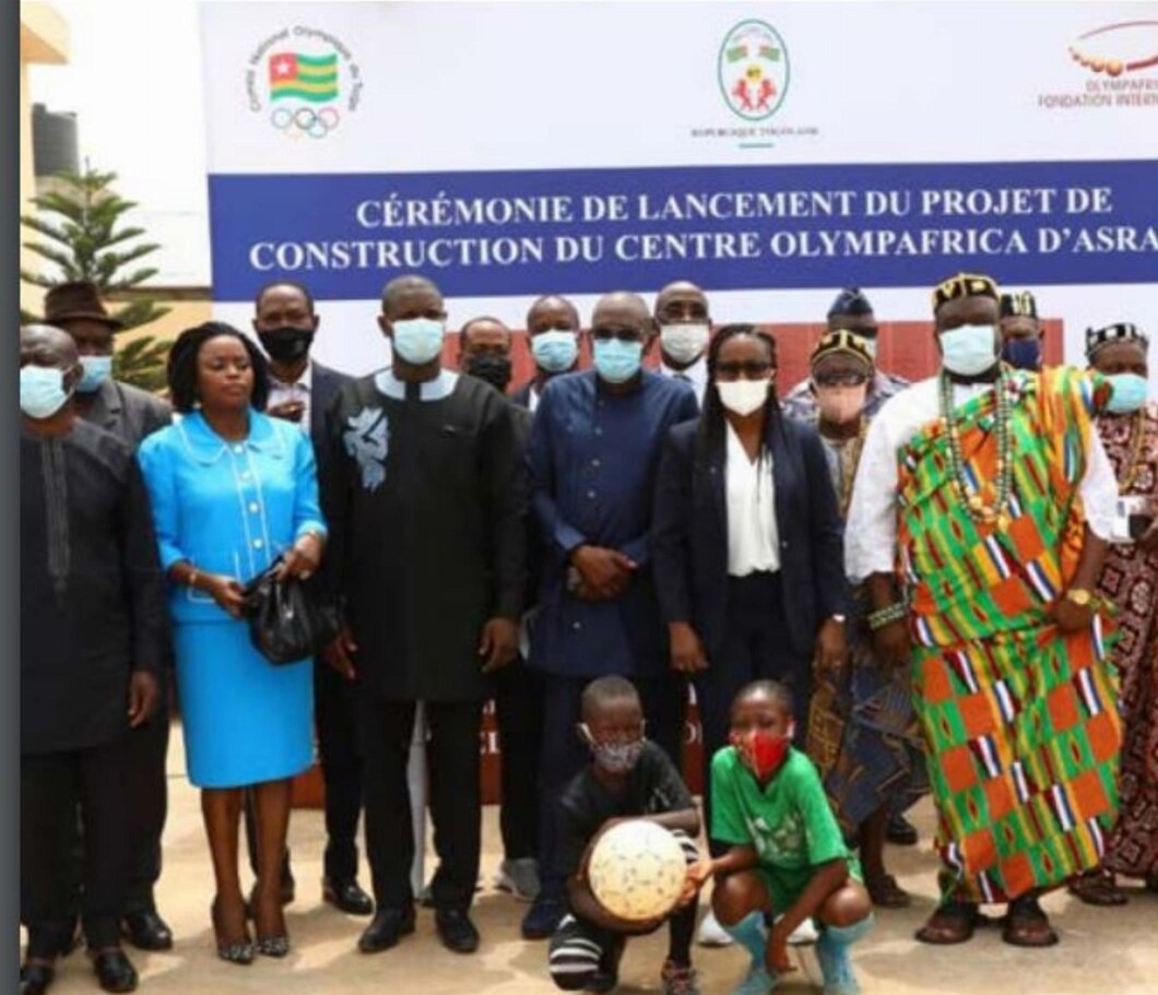 Togo NOC President attends stone laying ceremony at new OlympAfrica Centre