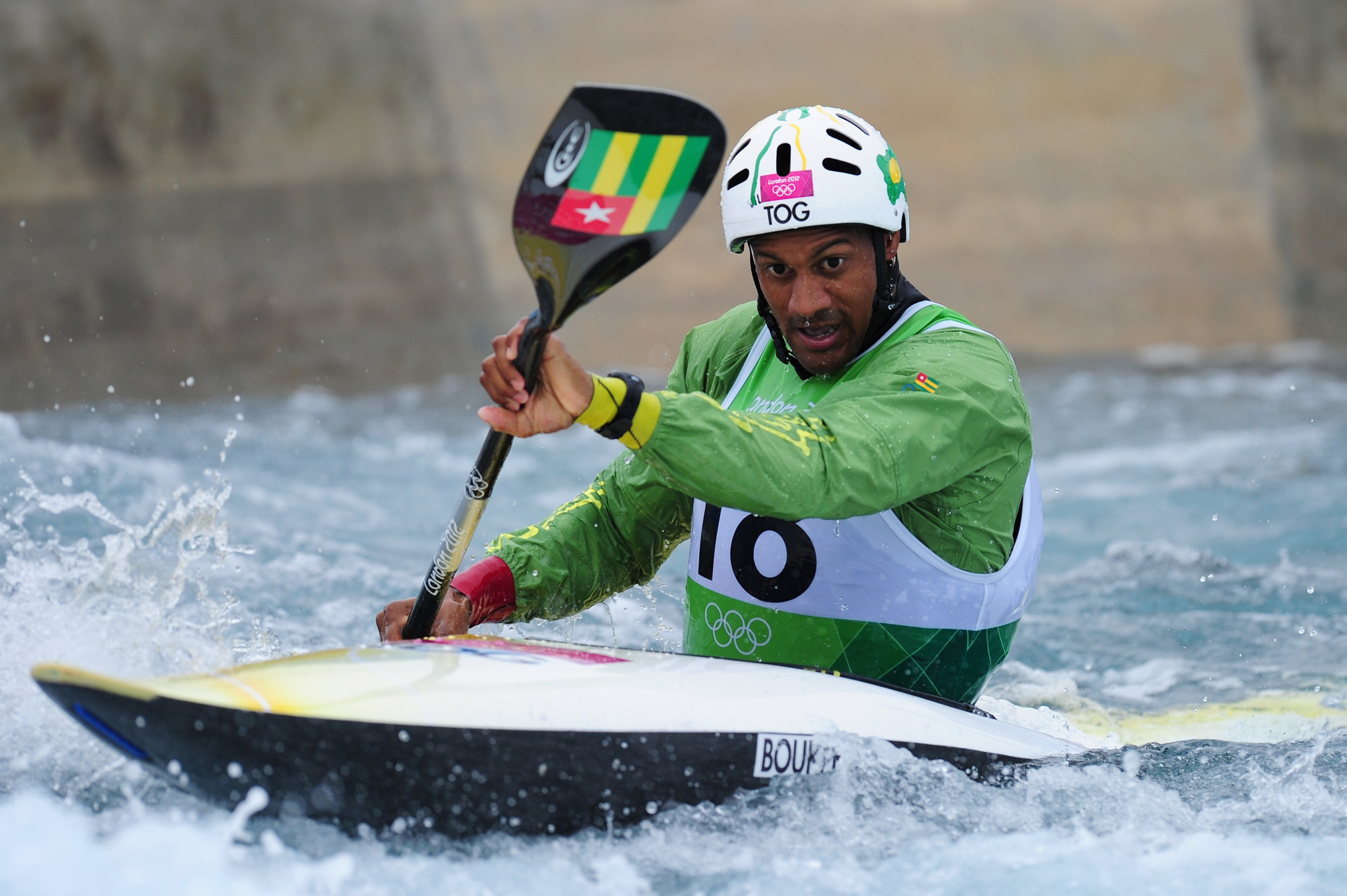 Canoeist Benjamin Boukpeti is Togo's only Olympic medallist ©Getty Images