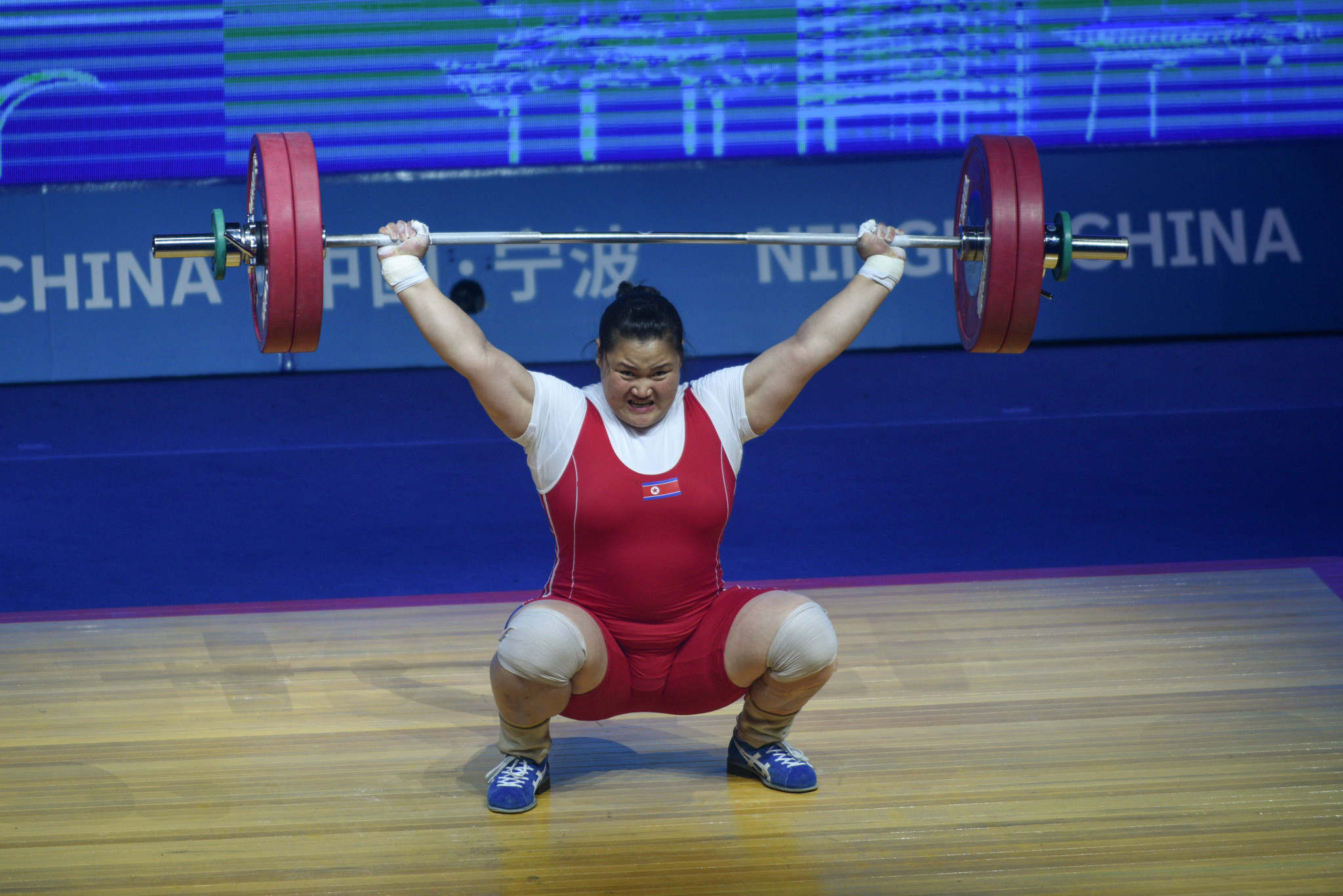 Kim Kuk-hyang was among the favourites for the women's super-heavyweight title