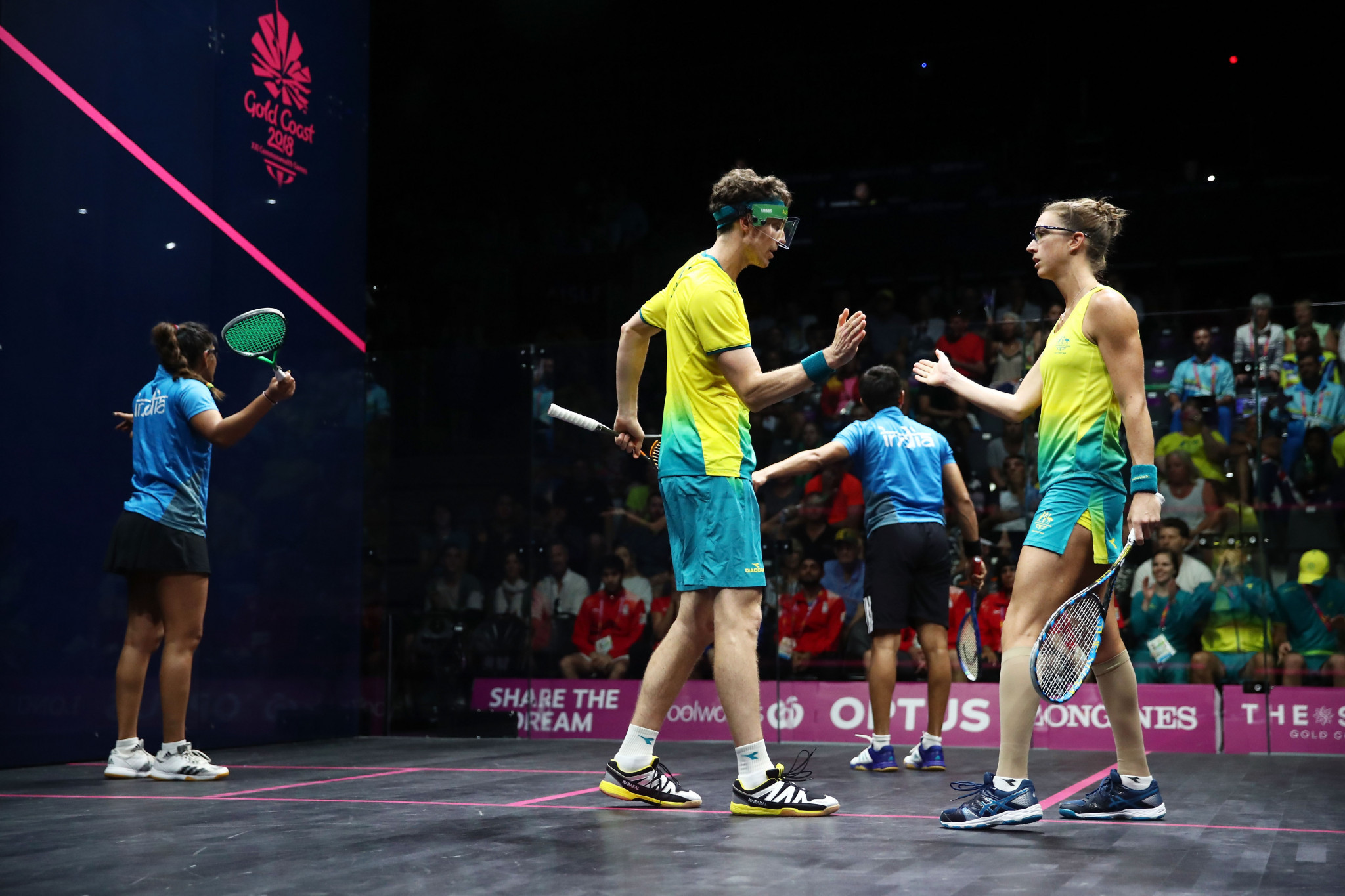 Mixed doubles squash is a part of the Commonwealth Games programme ©Getty Images