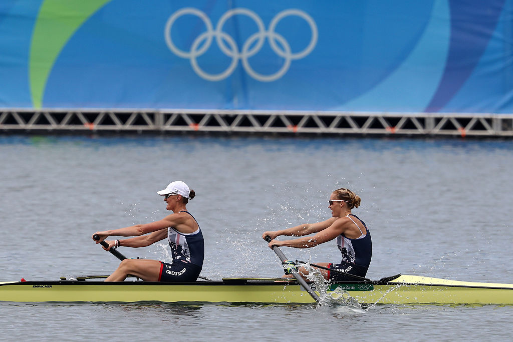 Britain's double Olympic champion Helen Glover, right, is due to make her return to competitive action at the European Rowing Championships ©Getty Images